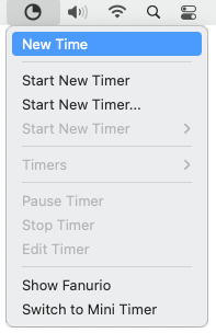 Time tracking software - Menu bar icon